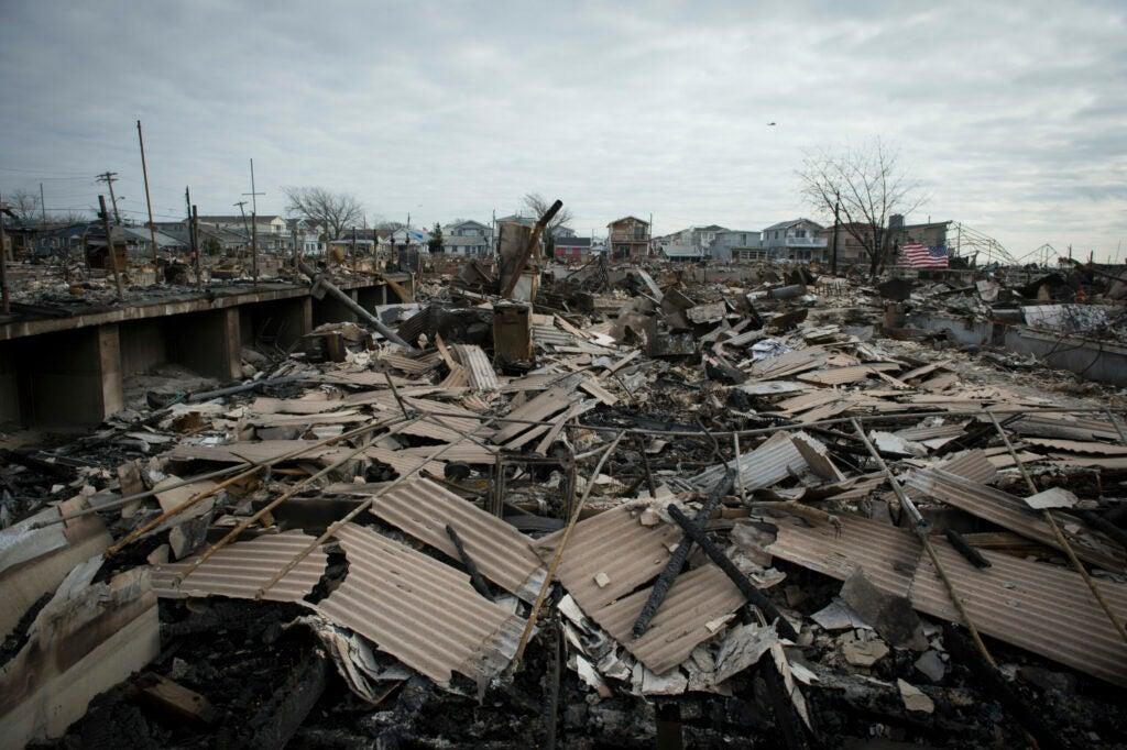 Destruction in Breezy Point, N.Y. following Hurricane Sandy