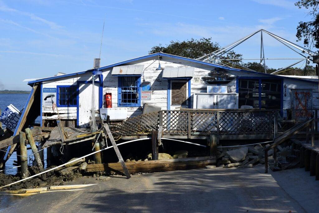 Damage left by Hurricane Matthew in 2016