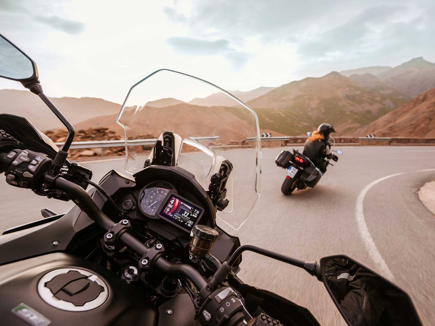 motorcycle ride from drivers seat