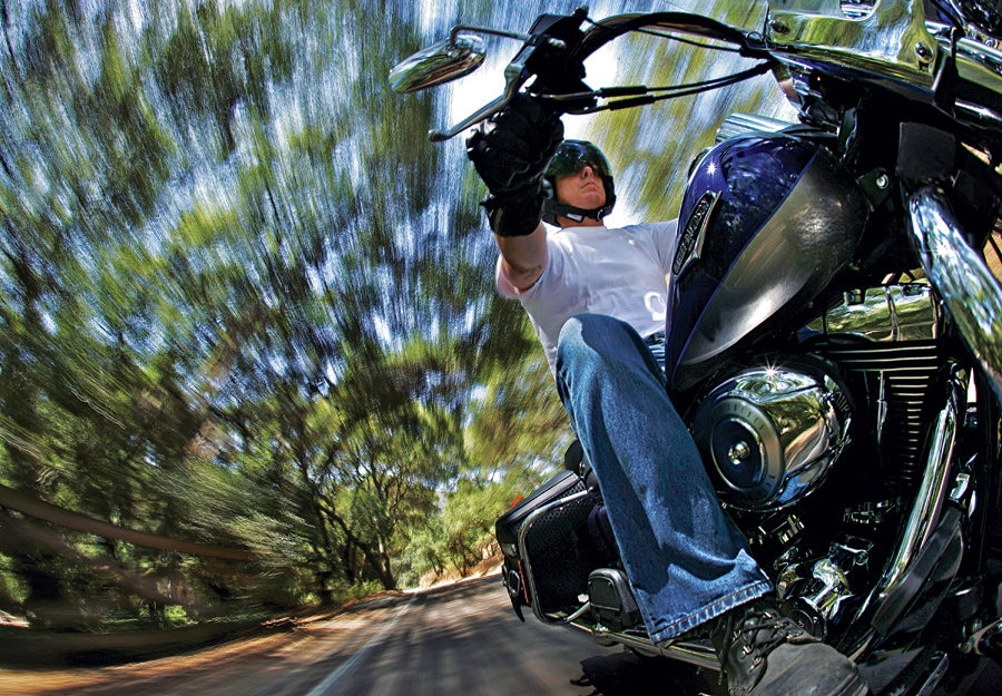 moving motorcycle photograph
