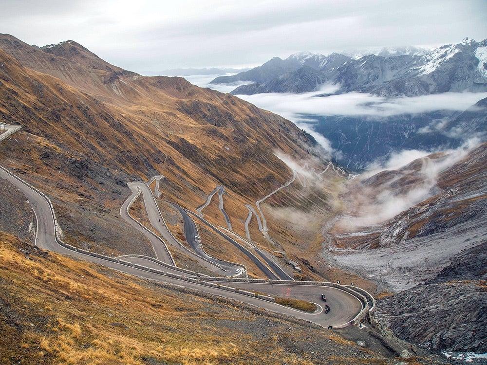 Curvy roads and hills