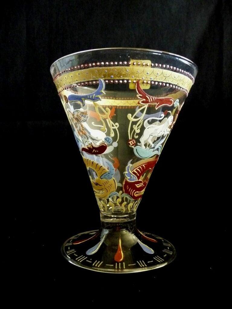 Venetian glass goblet conservation