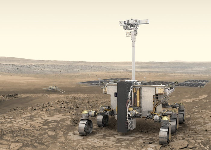a drawing of a rover on mars