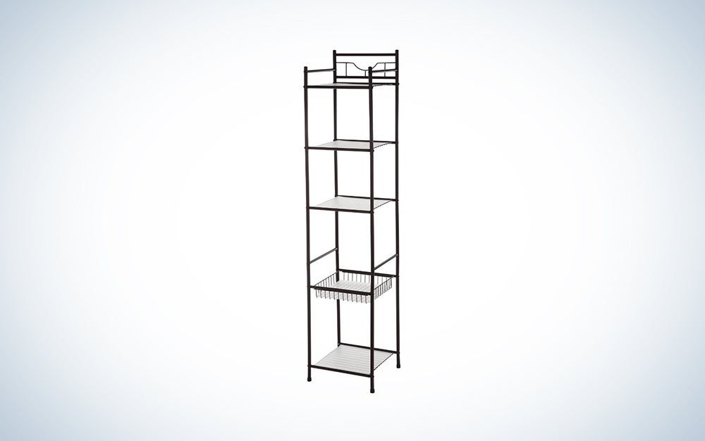 Monoprice five-tier storage shelves