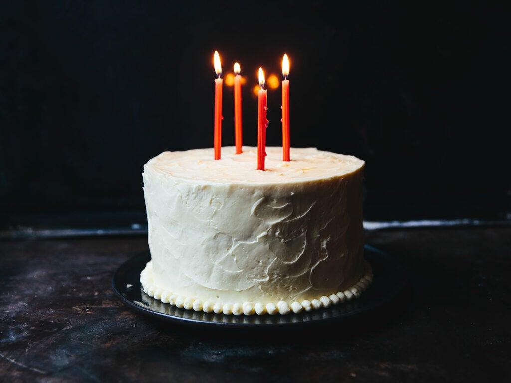 White Mountain Layer Cake with Marshmallow Buttercream