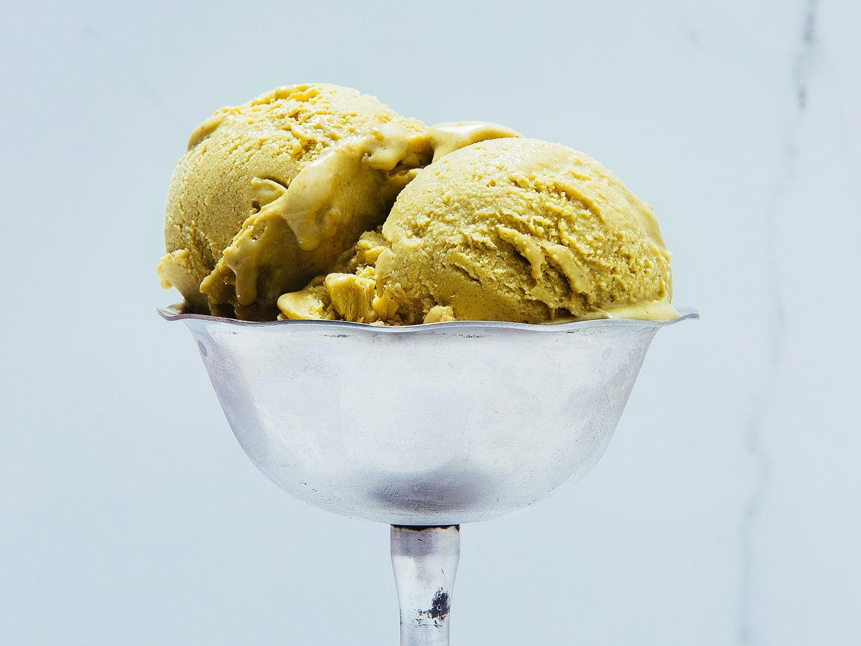 A cup of pistachio gelato