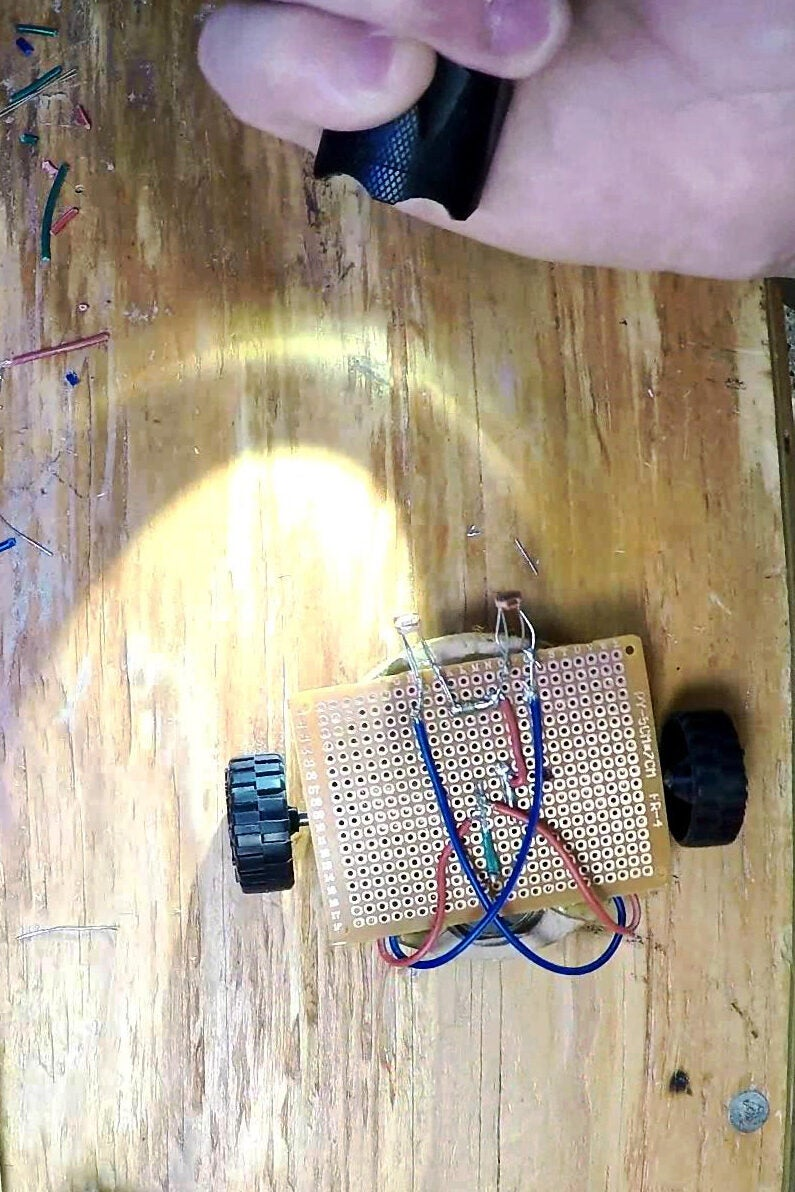 How to make a light-following robot in one afternoon