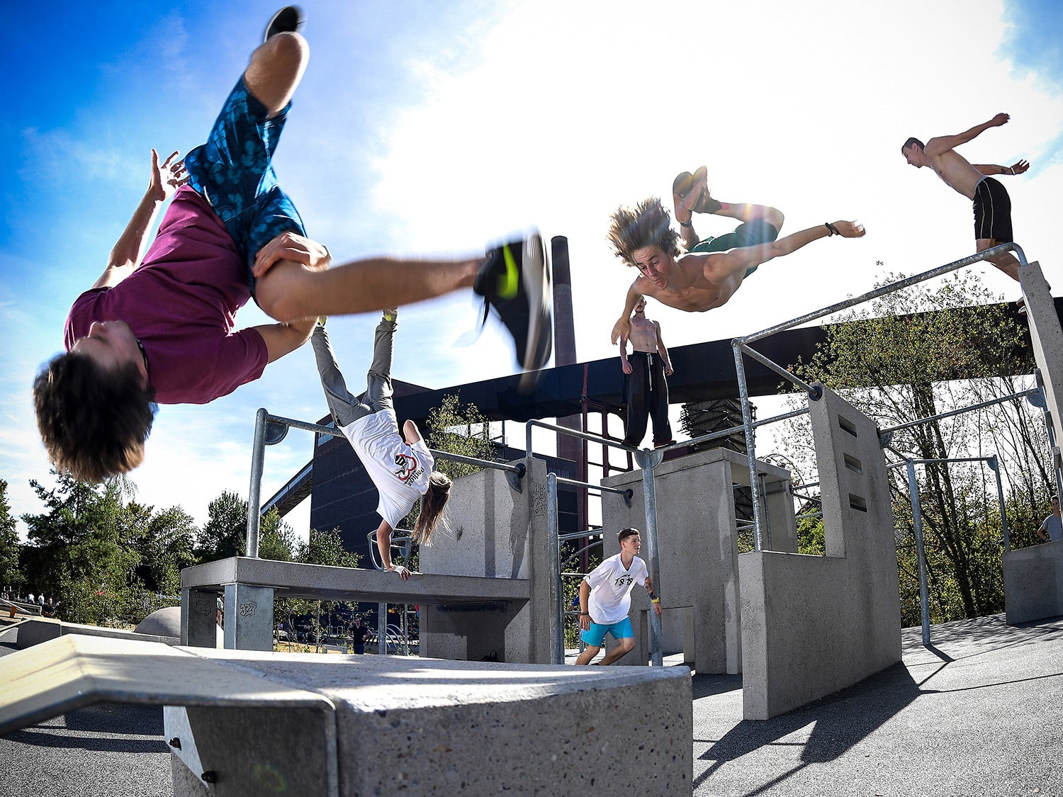Parkour at the park