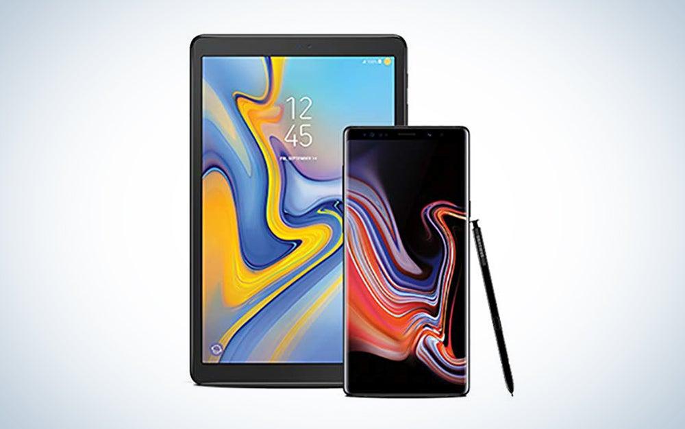 Samsung tablet and phone bundle