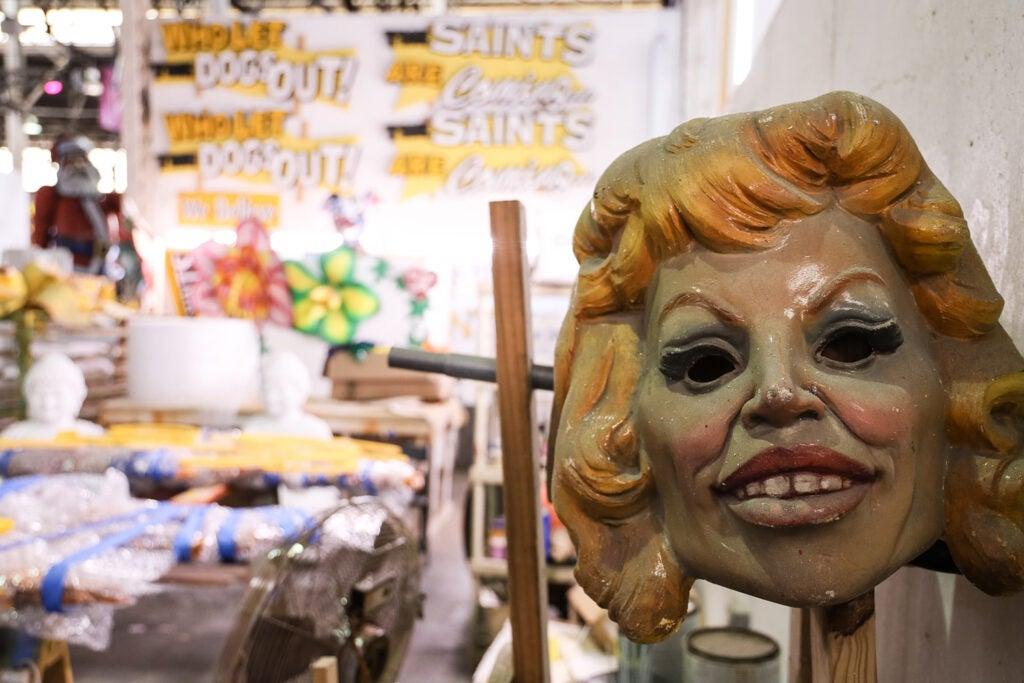 creepy woman mask