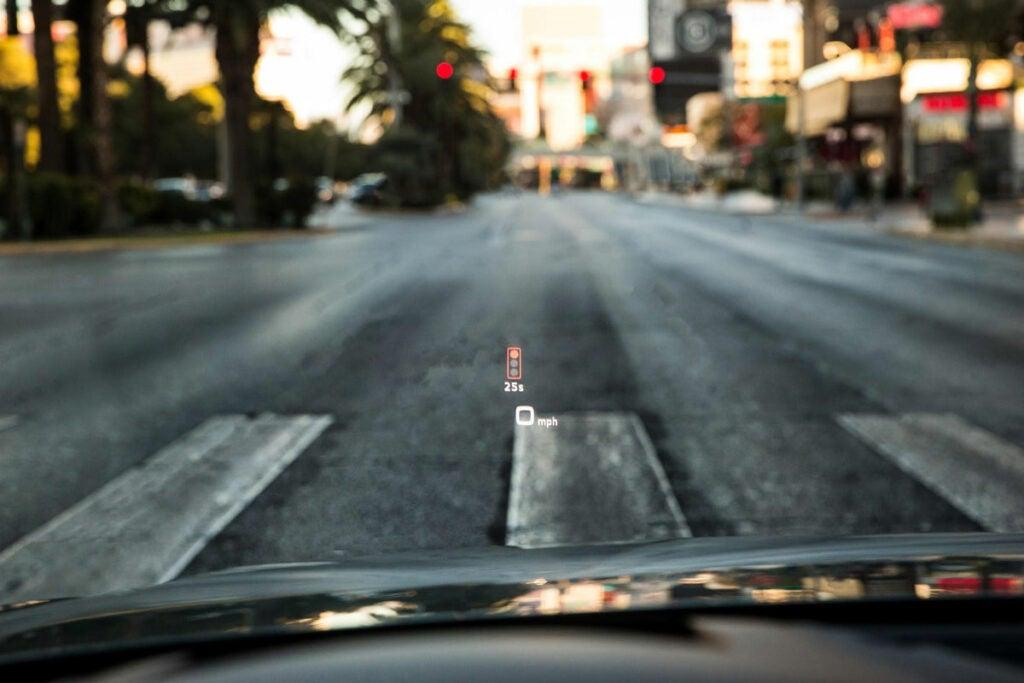 Audi traffic light HUD