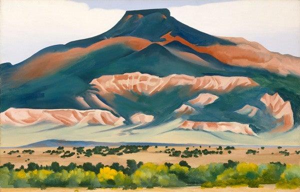 Georgia O'Keeffe Pedernal art painting material science
