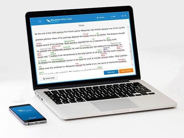 WhiteSmoke Writing Assistant: Lifetime Premium Subscription