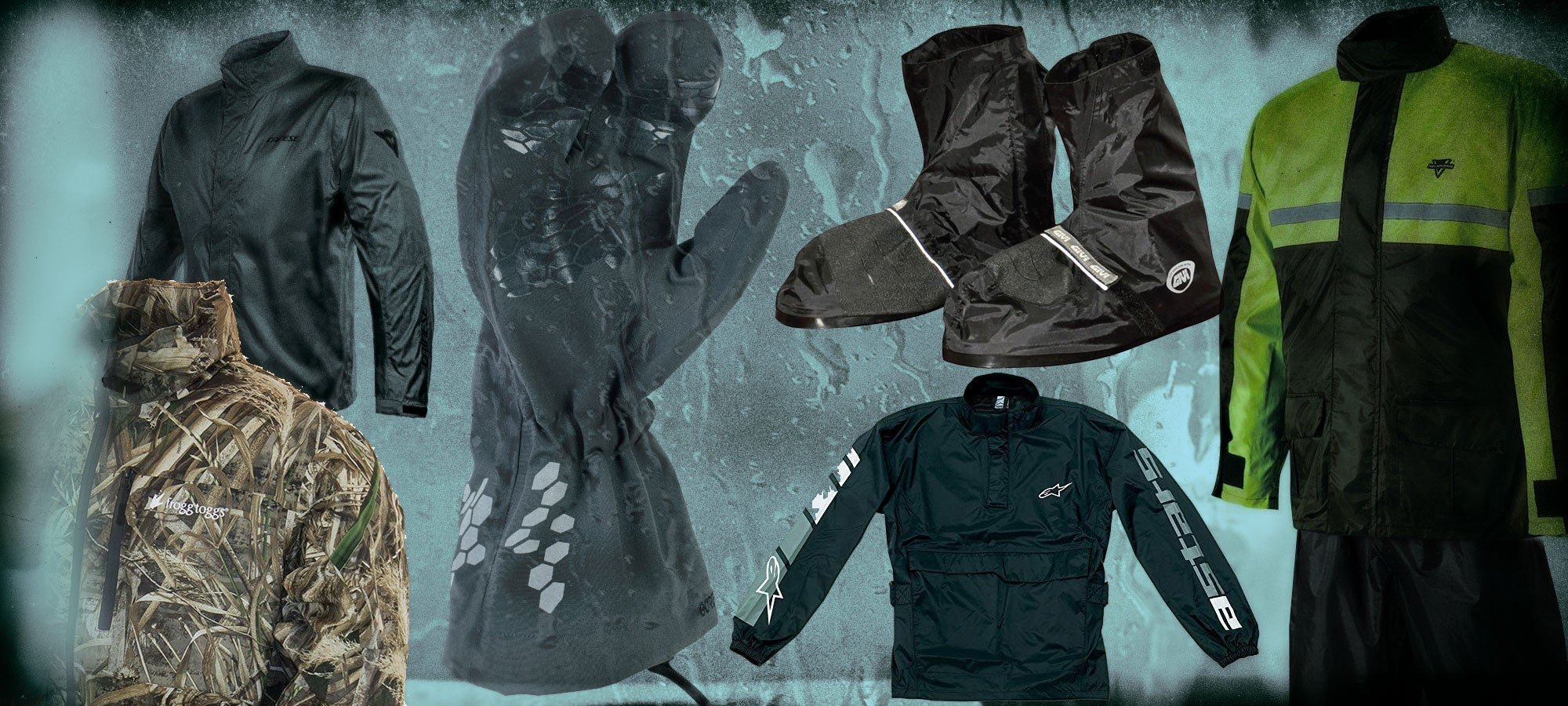 Rain gear for motorcyclists