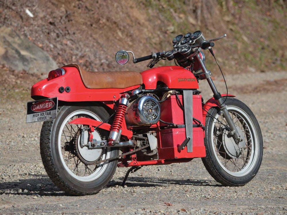 1978 electric harley-davidson motorcycle