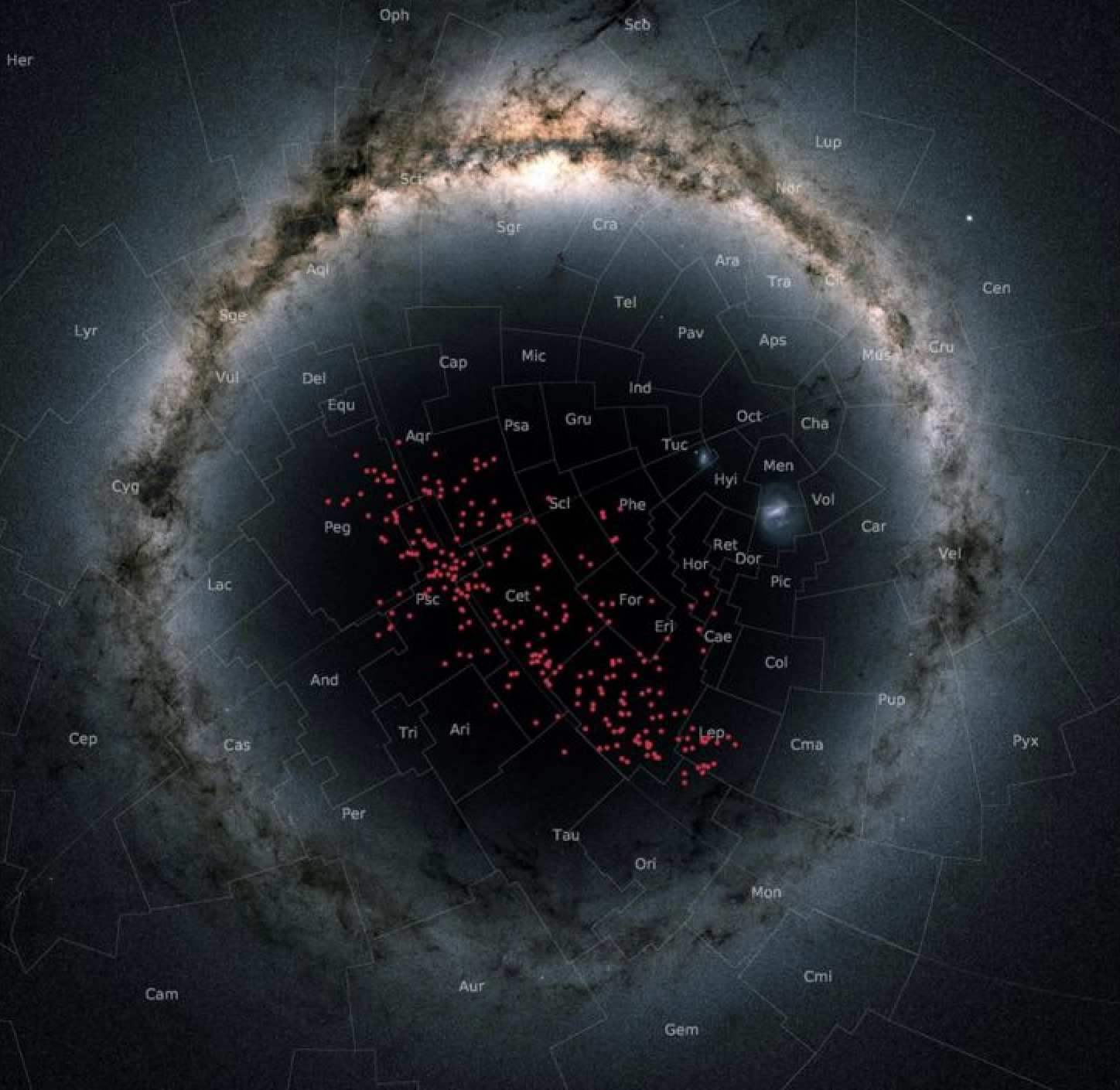 River of stars map galaxy Gaia discovery