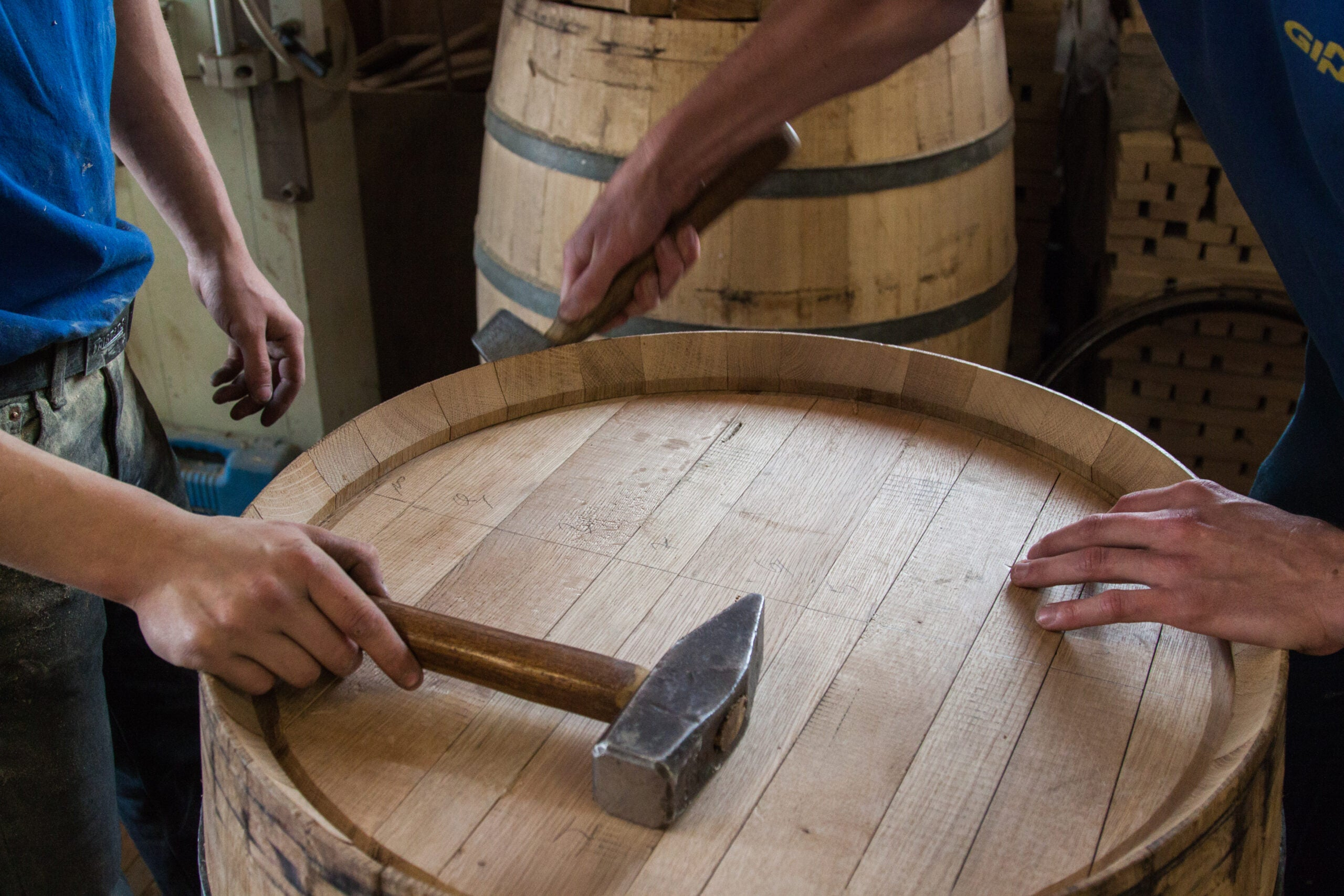 Barrel flavor of wood production spirits