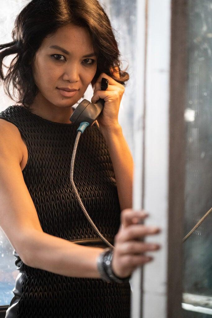 model on payphone