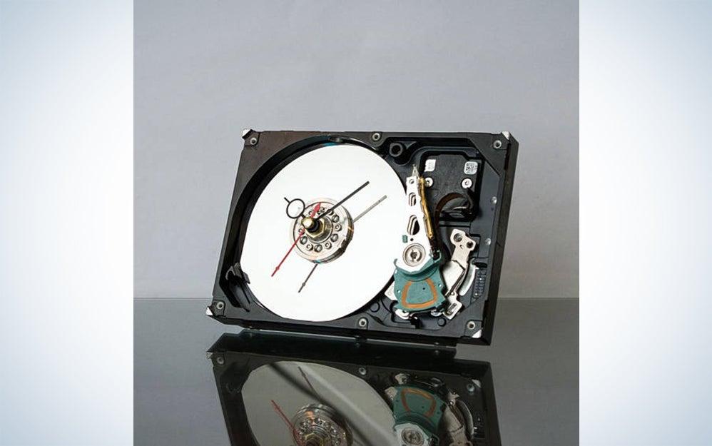 Hard drive-desk clock