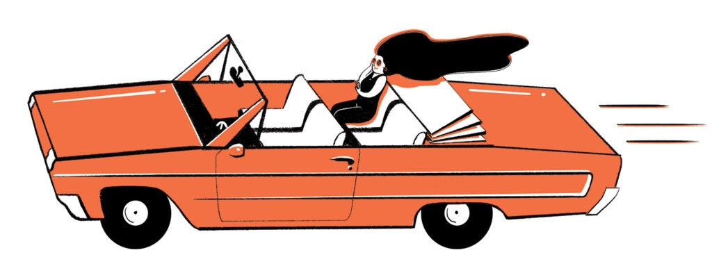 riding in autonomous car