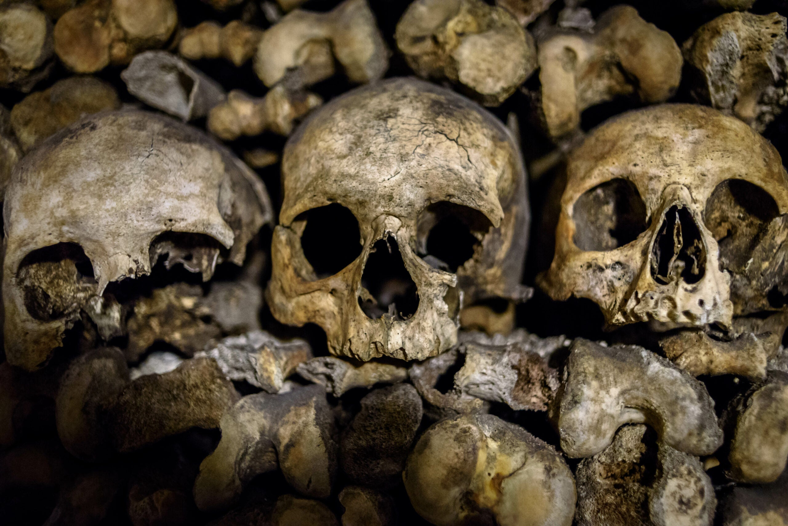 Paris catacombs human skulls Skeleton Keys
