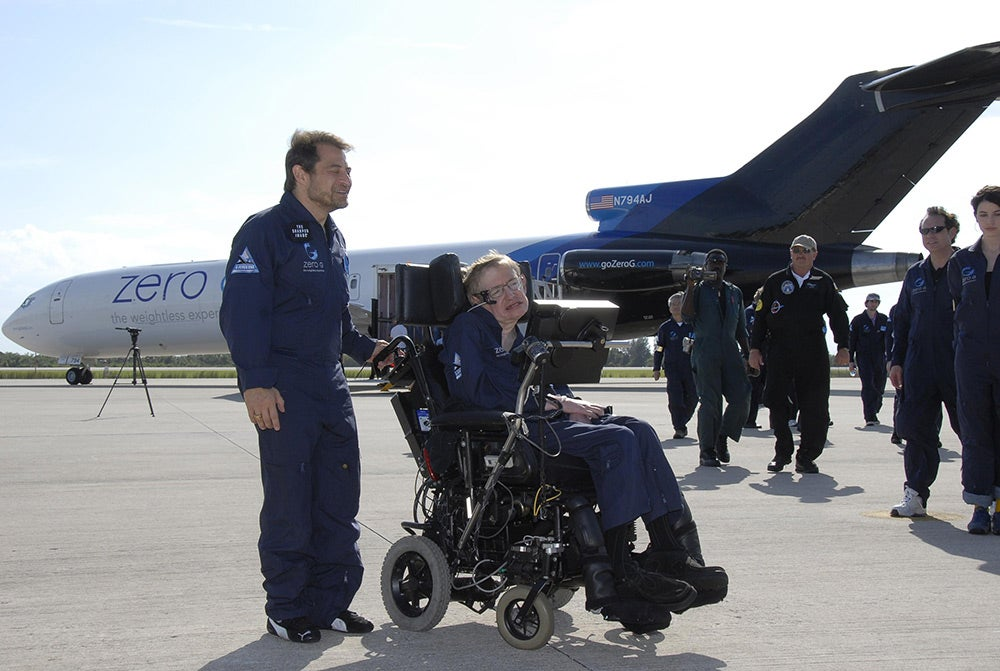 Stephen Hawking at Kennedy Space Center