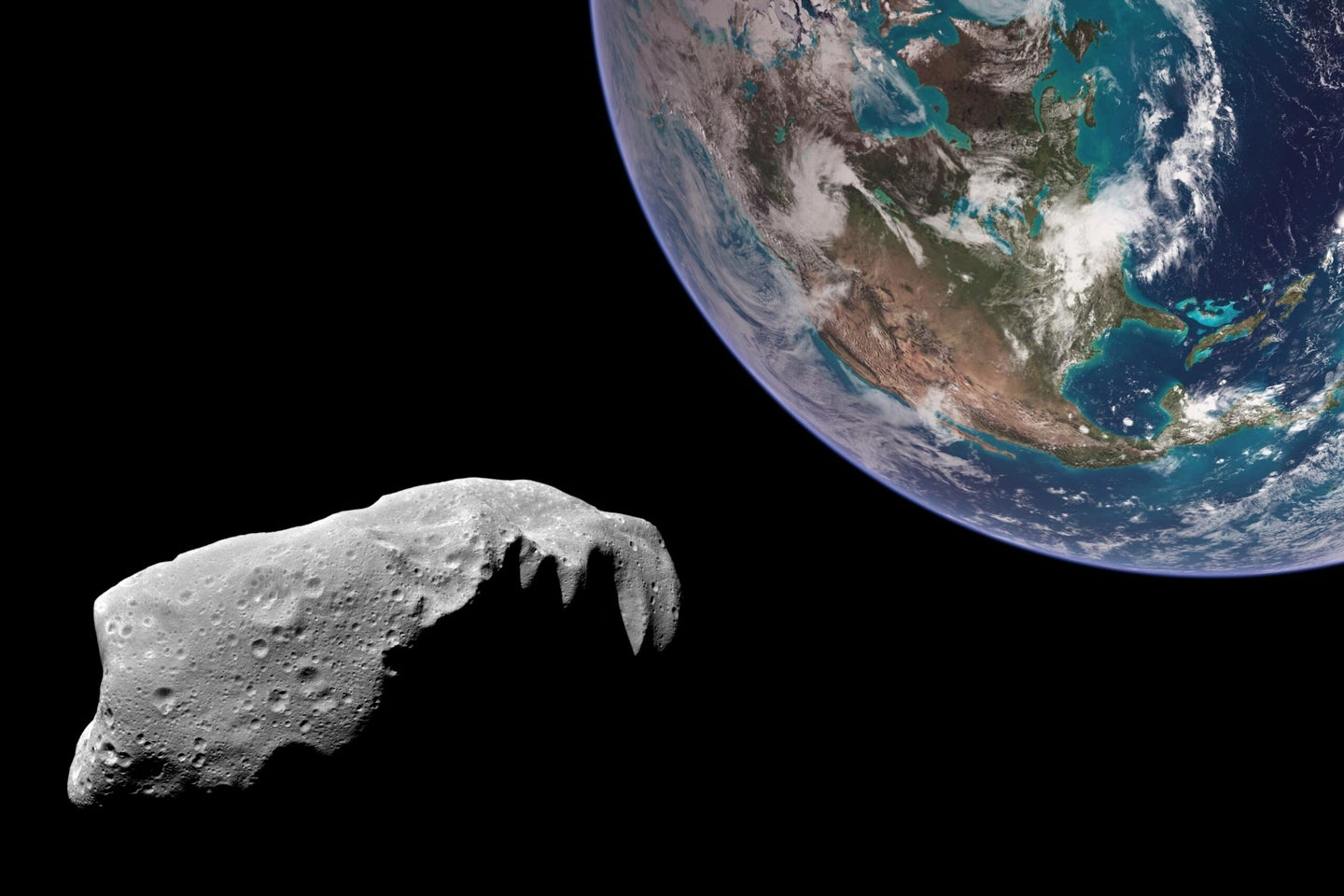 an asteroid next to earth
