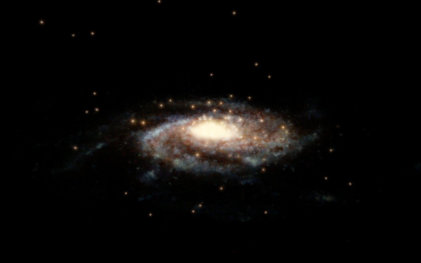 an illustration of the milky way galaxy in space