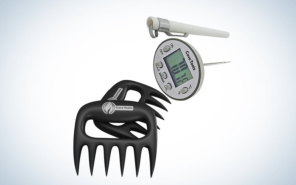 Cave Tools Meat Claws and Digital Cooking Thermometer
