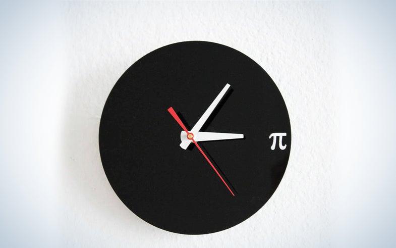 Black Pi Wall Clock
