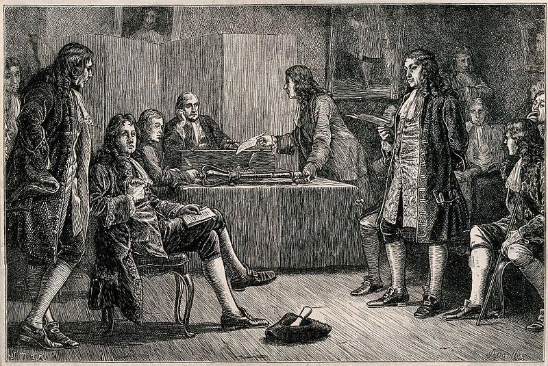 Royal Society of London England Isaac Newton Charles II king science