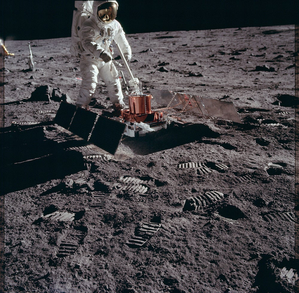 space technology on the moon