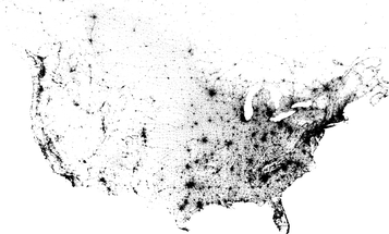 A Map Of Every Person In The U.S. And Canada