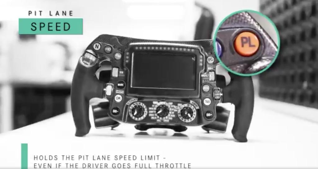Mercedes F1 steering wheel