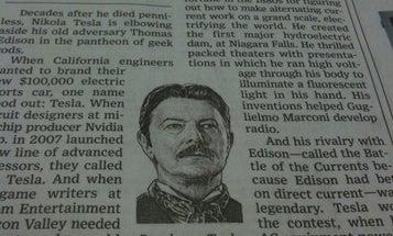 Nikola Tesla Achieves Belated WSJ Fame, via David Bowie