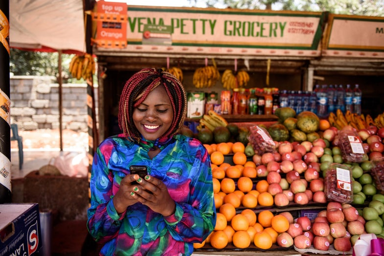 Mobile money helped 2 percent of households in Kenya rise out of poverty