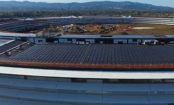 Here's how Apple's UFO-like campus is coming along