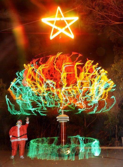 An Electrifying Christmas Light Display, Courtesy of Nikola Tesla