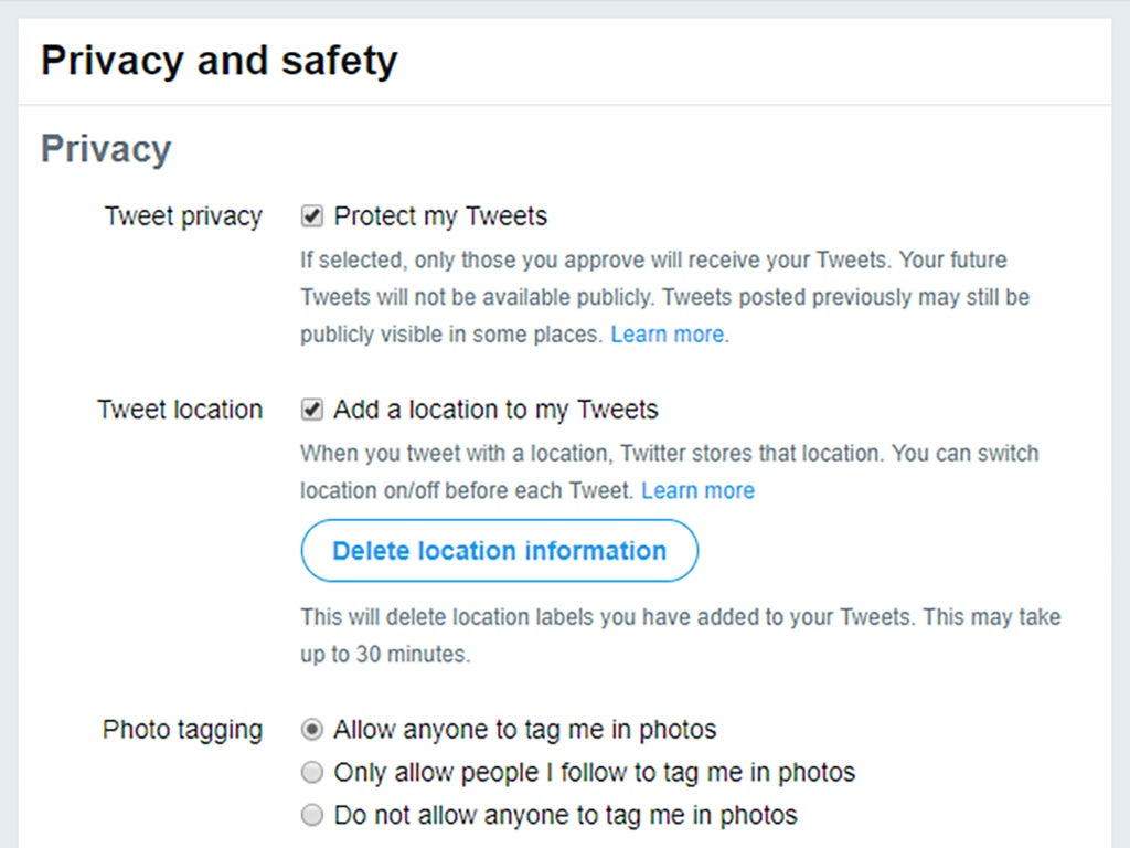 Private tweets
