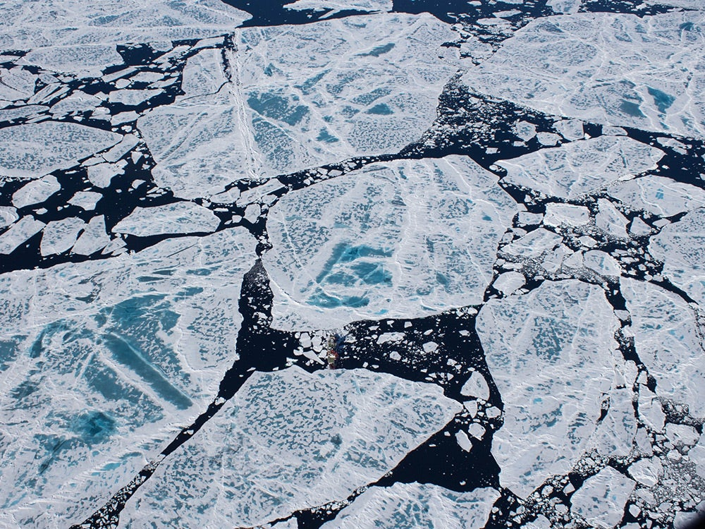 Shot of ice from above