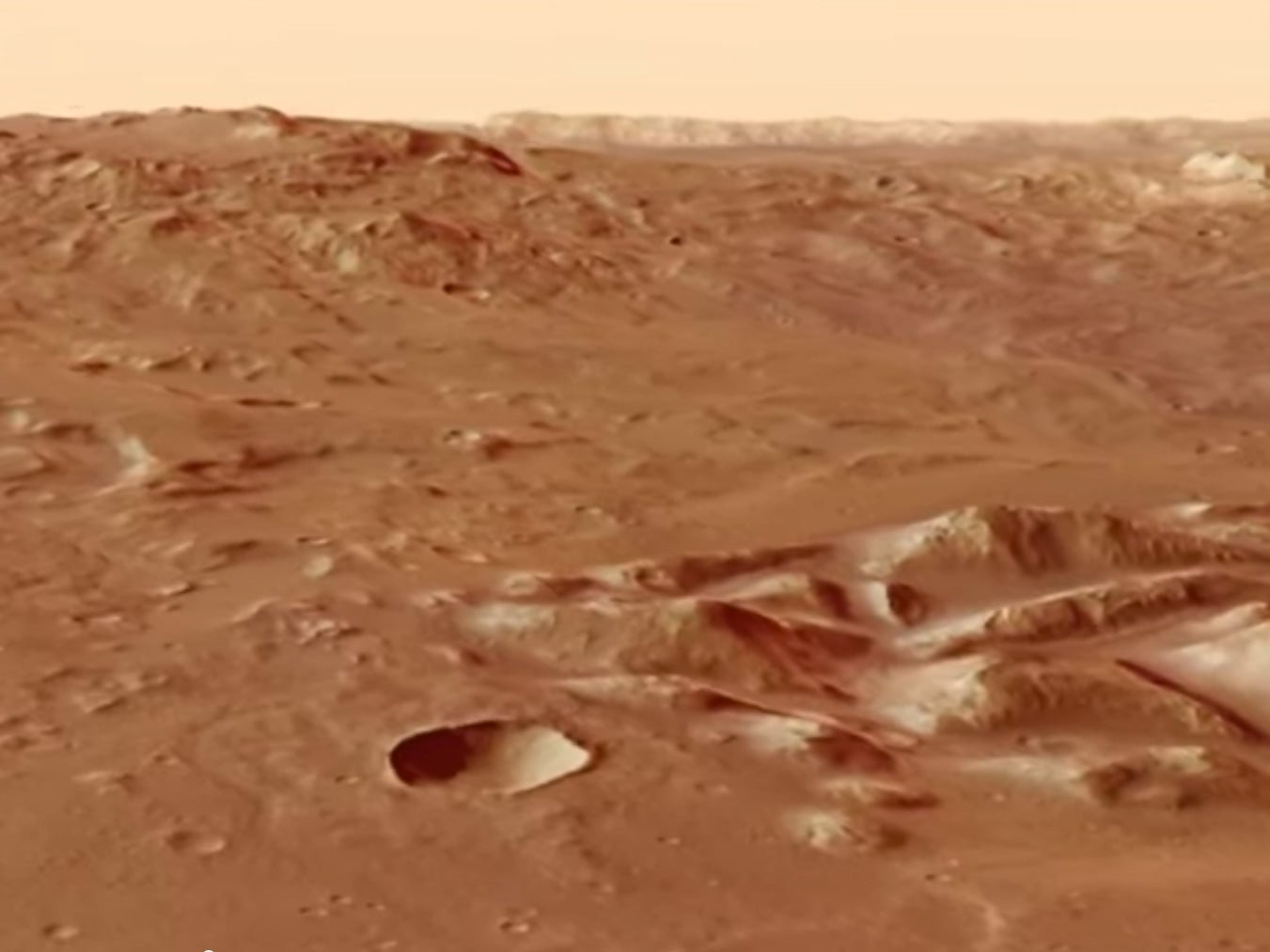 Fly Over Mars In This Breathtaking New Animation