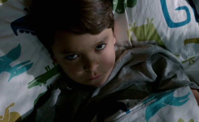 A screencap, from the CBS series Extant, of the android child, Ethan