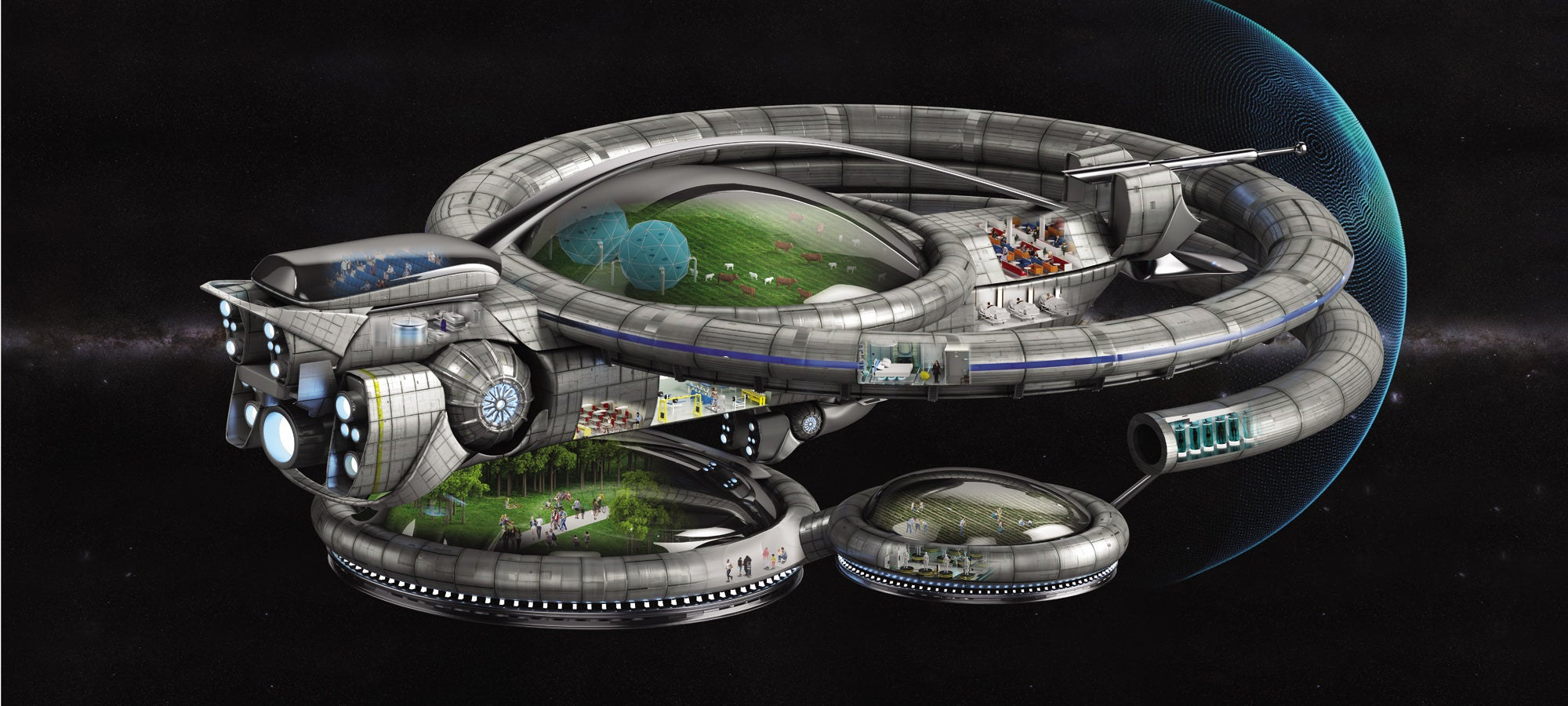 We could move to another planet with a spaceship like this