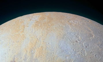 A New View Of Pluto's Icy Polar Canyons