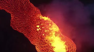 Lava Seen By Drone