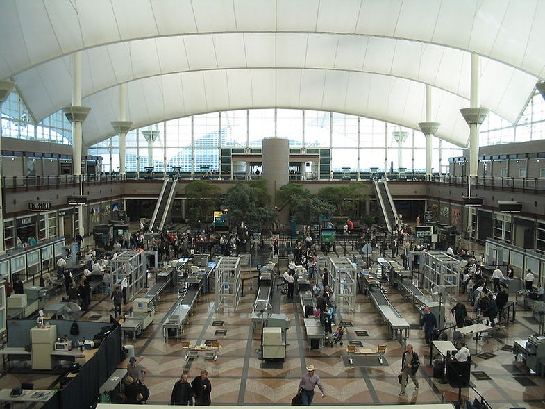 The security checkpoint at Denver International Airport.