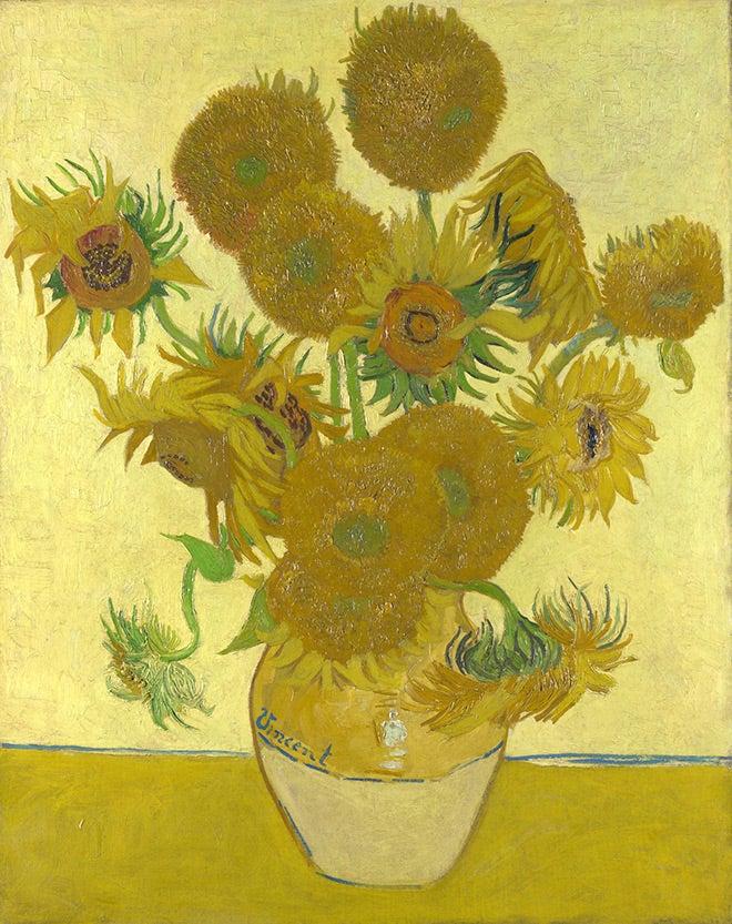Van Gogh sunflowers painting