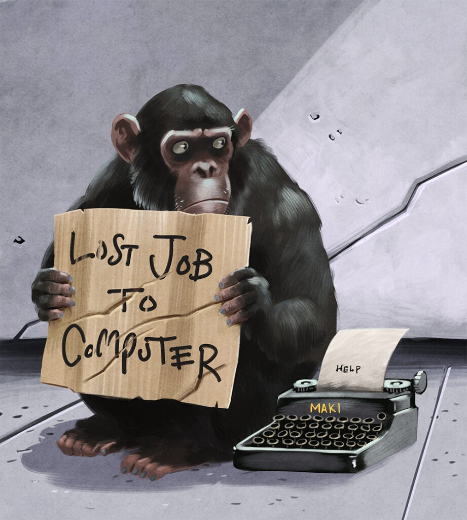 Homeless Chimp