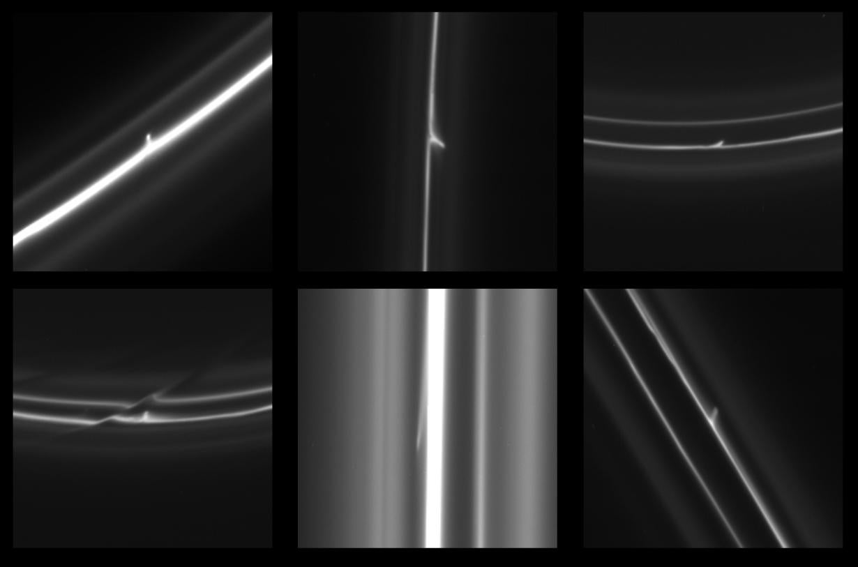 Video: Flying Objects Punch Through Saturnian Ring, Blazing Glittery Trails of Space Dust