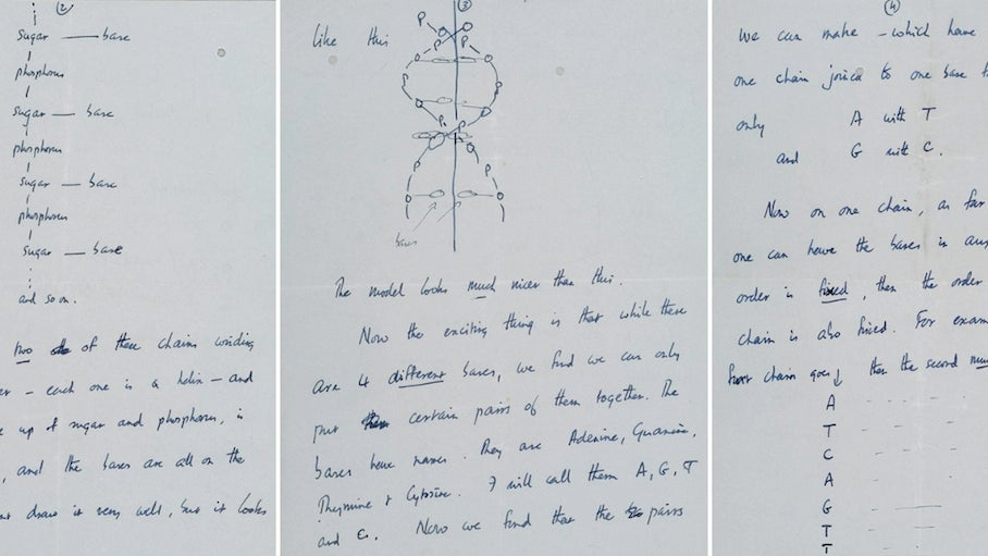 Somebody Just Shelled Out $5.3 Million For A Francis Crick Letter Describing DNA